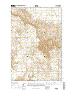 Fallon North Dakota Current topographic map, 1:24000 scale, 7.5 X 7.5 Minute, Year 2014 from North Dakota Map Store