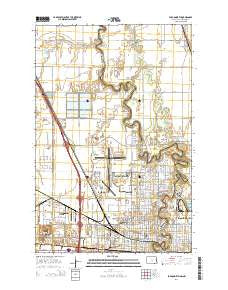Fargo North North Dakota Current topographic map, 1:24000 scale, 7.5 X 7.5 Minute, Year 2014
