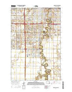 Fargo South North Dakota Current topographic map, 1:24000 scale, 7.5 X 7.5 Minute, Year 2014 from North Dakota Map Store