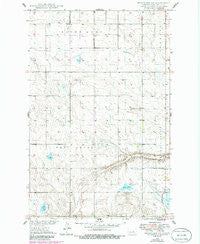 Fessenden SW North Dakota Historical topographic map, 1:24000 scale, 7.5 X 7.5 Minute, Year 1949