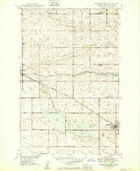 Fessenden West North Dakota Historical topographic map, 1:24000 scale, 7.5 X 7.5 Minute, Year 1949
