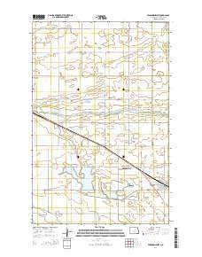 Fessenden West North Dakota Current topographic map, 1:24000 scale, 7.5 X 7.5 Minute, Year 2014