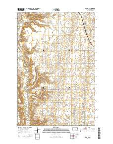 Fingal SW North Dakota Current topographic map, 1:24000 scale, 7.5 X 7.5 Minute, Year 2014