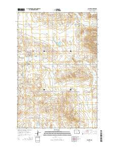 Flasher North Dakota Current topographic map, 1:24000 scale, 7.5 X 7.5 Minute, Year 2014