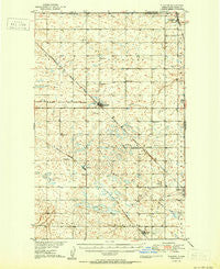 Flaxton North Dakota Historical topographic map, 1:62500 scale, 15 X 15 Minute, Year 1950