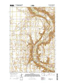 Fort Ransom North Dakota Current topographic map, 1:24000 scale, 7.5 X 7.5 Minute, Year 2014