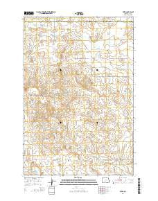 Freda North Dakota Current topographic map, 1:24000 scale, 7.5 X 7.5 Minute, Year 2014