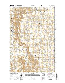 Fryburg North Dakota Current topographic map, 1:24000 scale, 7.5 X 7.5 Minute, Year 2014