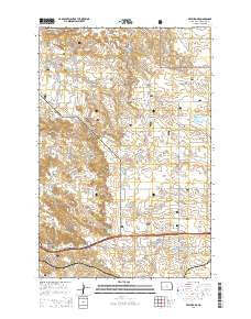 Fryburg NE North Dakota Current topographic map, 1:24000 scale, 7.5 X 7.5 Minute, Year 2014