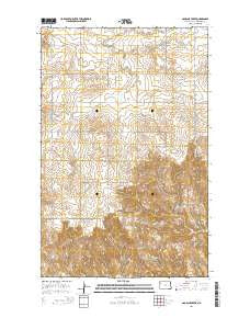Gamache Creek North Dakota Current topographic map, 1:24000 scale, 7.5 X 7.5 Minute, Year 2014