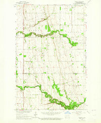 Gardar North Dakota Historical topographic map, 1:24000 scale, 7.5 X 7.5 Minute, Year 1963