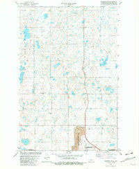 Garrison NE North Dakota Historical topographic map, 1:24000 scale, 7.5 X 7.5 Minute, Year 1981