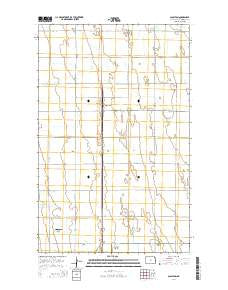 Glasston North Dakota Current topographic map, 1:24000 scale, 7.5 X 7.5 Minute, Year 2014