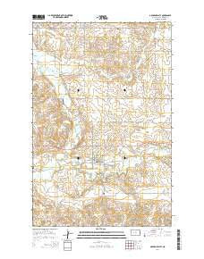 Golden Valley North Dakota Current topographic map, 1:24000 scale, 7.5 X 7.5 Minute, Year 2014