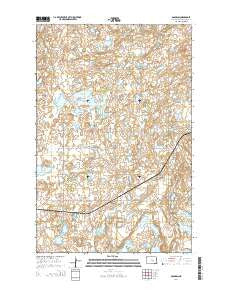 Goldwin North Dakota Current topographic map, 1:24000 scale, 7.5 X 7.5 Minute, Year 2014