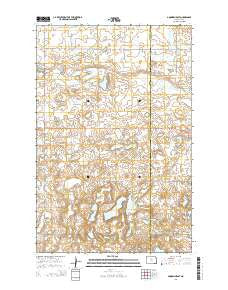 Goodrich East North Dakota Current topographic map, 1:24000 scale, 7.5 X 7.5 Minute, Year 2014