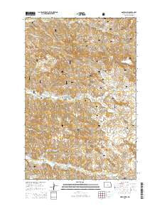 Gorham SW North Dakota Current topographic map, 1:24000 scale, 7.5 X 7.5 Minute, Year 2014