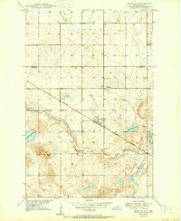 Grace City North Dakota Historical topographic map, 1:24000 scale, 7.5 X 7.5 Minute, Year 1950
