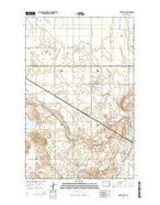 Grace City North Dakota Current topographic map, 1:24000 scale, 7.5 X 7.5 Minute, Year 2014 from North Dakota Map Store