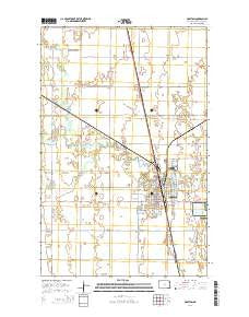 Grafton North Dakota Current topographic map, 1:24000 scale, 7.5 X 7.5 Minute, Year 2014