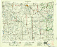 Grand Forks North Dakota Historical topographic map, 1:250000 scale, 1 X 2 Degree, Year 1956