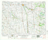 Grand Forks North Dakota Historical topographic map, 1:250000 scale, 1 X 2 Degree, Year 1966
