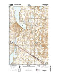 Grand Harbor North Dakota Current topographic map, 1:24000 scale, 7.5 X 7.5 Minute, Year 2014