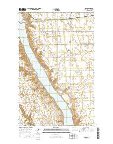 Grano North Dakota Current topographic map, 1:24000 scale, 7.5 X 7.5 Minute, Year 2014