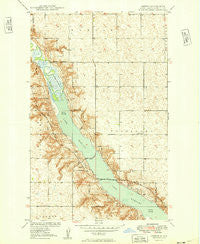 Greene North Dakota Historical topographic map, 1:24000 scale, 7.5 X 7.5 Minute, Year 1949