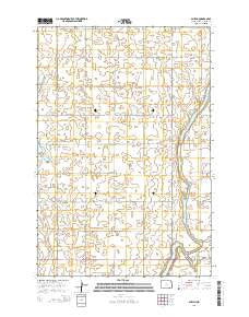 Guelph North Dakota Current topographic map, 1:24000 scale, 7.5 X 7.5 Minute, Year 2014