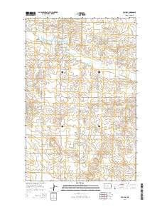 Halliday North Dakota Current topographic map, 1:24000 scale, 7.5 X 7.5 Minute, Year 2014