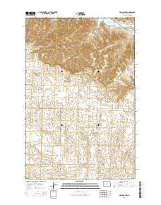 Halliday NW North Dakota Current topographic map, 1:24000 scale, 7.5 X 7.5 Minute, Year 2014