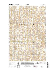 Hampden North Dakota Current topographic map, 1:24000 scale, 7.5 X 7.5 Minute, Year 2014