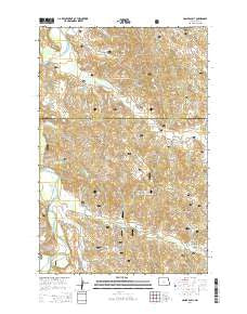 Hanks Gully North Dakota Current topographic map, 1:24000 scale, 7.5 X 7.5 Minute, Year 2014