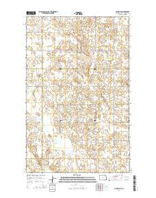 Hannah SE North Dakota Current topographic map, 1:24000 scale, 7.5 X 7.5 Minute, Year 2014