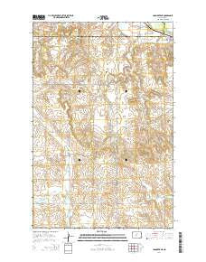 Hannover NE North Dakota Current topographic map, 1:24000 scale, 7.5 X 7.5 Minute, Year 2014