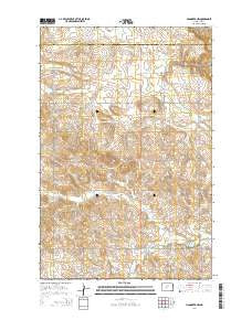 Hannover NW North Dakota Current topographic map, 1:24000 scale, 7.5 X 7.5 Minute, Year 2014