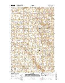 Hansboro SW North Dakota Current topographic map, 1:24000 scale, 7.5 X 7.5 Minute, Year 2014