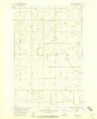 Harlow SW North Dakota Historical topographic map, 1:24000 scale, 7.5 X 7.5 Minute, Year 1958
