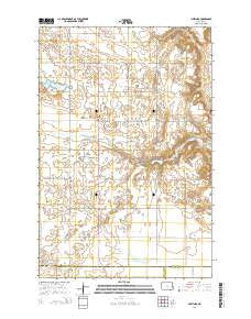 Hastings North Dakota Current topographic map, 1:24000 scale, 7.5 X 7.5 Minute, Year 2014