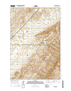 Havana North Dakota Current topographic map, 1:24000 scale, 7.5 X 7.5 Minute, Year 2014