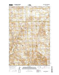 Heart Butte NW North Dakota Current topographic map, 1:24000 scale, 7.5 X 7.5 Minute, Year 2014