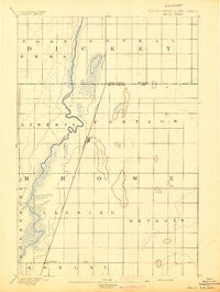 Hecla South Dakota Historical topographic map, 1:62500 scale, 15 X 15 Minute, Year 1894