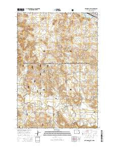 Hettinger South North Dakota Current topographic map, 1:24000 scale, 7.5 X 7.5 Minute, Year 2014