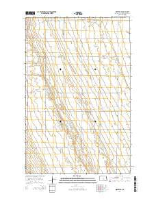 Inkster SE North Dakota Current topographic map, 1:24000 scale, 7.5 X 7.5 Minute, Year 2014