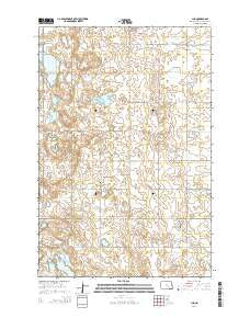 Jud North Dakota Current topographic map, 1:24000 scale, 7.5 X 7.5 Minute, Year 2014