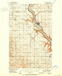 Kenmare North Dakota Historical topographic map, 1:62500 scale, 15 X 15 Minute, Year 1950