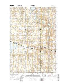 Kintyre North Dakota Current topographic map, 1:24000 scale, 7.5 X 7.5 Minute, Year 2014