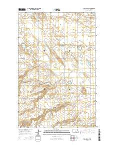 Kongsberg NE North Dakota Current topographic map, 1:24000 scale, 7.5 X 7.5 Minute, Year 2014
