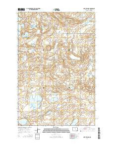 Lake Williams North Dakota Current topographic map, 1:24000 scale, 7.5 X 7.5 Minute, Year 2014